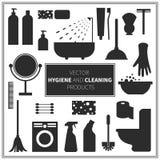 Symboler för vektorhygien- och lokalvårdprodukter Royaltyfri Fotografi