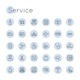 Symboler för vektorrundaservice Royaltyfria Bilder