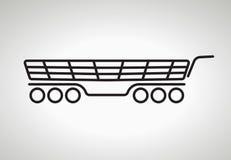 Symboler för vektorshoppingvagn Royaltyfria Bilder