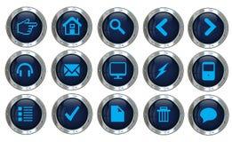 Symboler för vektorsilverwebbplats Royaltyfri Foto