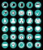Symboler för websitevektor Royaltyfri Fotografi