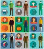 Symboler för yrkevektorlägenhet Royaltyfria Foton
