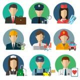 Symboler för yrkevektorlägenhet Arkivfoton
