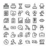 symboler f?r aff?rssamlingsfinans stock illustrationer