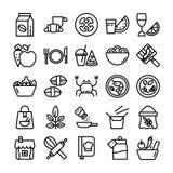 Symboler f?r matingredienser royaltyfri illustrationer