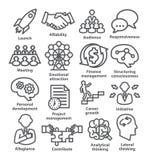 Symboler för affärsledning i linjen stil Packe 01 Royaltyfri Fotografi