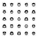 Symboler 3 för folkAvatarsvektor Fotografering för Bildbyråer