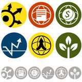 Symboler för global affär Arkivfoton