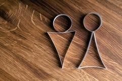 symboler för kvinnliggenusmanlig Fotografering för Bildbyråer
