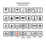 Symboler för lastmarkering Royaltyfri Fotografi