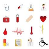 symboler för omsorgshälsoläkarundersökning Arkivbild