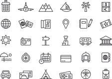Symboler för sommarferie Arkivfoto