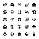 Symboler 3 för vektor för molndatateknologi Arkivfoton