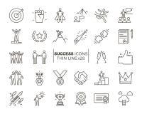 Symboler gällde med framgång, motivationen, viljekraften, ledarskap vektor illustrationer