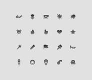 symboler har kontakt med diverse Arkivbild