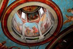 Symboler i kyrkan av den Suzana kloster Royaltyfri Foto