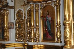 Symboler inom den ortodoxa kyrkan Arkivfoton