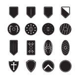 symboler inställd sköld Arkivfoton