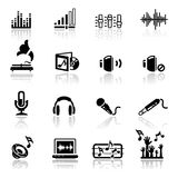 symboler inställt ljud Fotografering för Bildbyråer