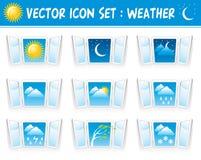 symboler inställt väder Arkivbild