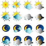 symboler inställt väder Royaltyfria Bilder