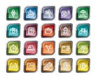 symboler löper semestern Royaltyfria Bilder