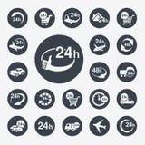 Symboler - leverans av köpet ett hem inom 24 eller 48 timmar Fotografering för Bildbyråer