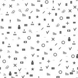 symboler mönsan seamless rengöringsduk Gråa symbolswebbplatser och bloggar Royaltyfri Bild