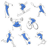 symboler man den set sporten Arkivbilder