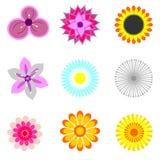 Symboler med beståndsdelar av blommor Arkivfoto