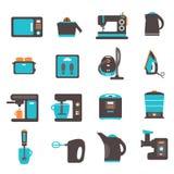 Symboler med köksgeråd vektor illustrationer