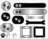 symboler metal tafsar trycket stock illustrationer