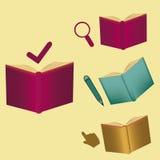 Symboler och böcker Royaltyfria Bilder