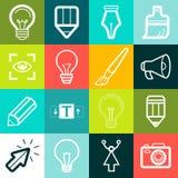 Symboler och tecken för grafisk design för vektor stock illustrationer