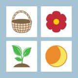 symboler också vektor för coreldrawillustration Royaltyfria Bilder