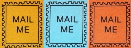 symboler postmark den retro stämpeln Arkivfoto