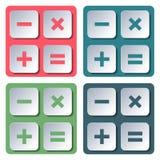 Symboler räknemaskin, vektorillustration Fotografering för Bildbyråer