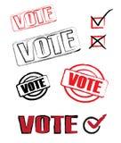 symboler röstar Royaltyfria Bilder