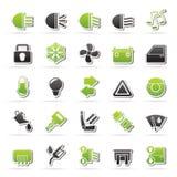 symboler sälja i minut shopping Royaltyfria Foton