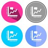 Symboler sänker affärsdiagrammet Fotografering för Bildbyråer