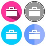Symboler sänker portföljen Arkivbilder