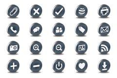 symboler sätter in den mono olika vektorn Fotografering för Bildbyråer