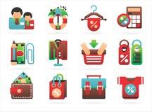symboler som intresserar shopping Arkivfoton