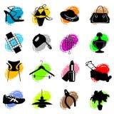 symboler som shoppar vektorn Royaltyfri Fotografi