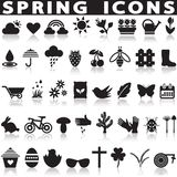 symboler som ställs in fjäder Arkivbild