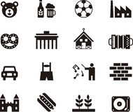 Symboler som symboliserar Tyskland Royaltyfri Fotografi