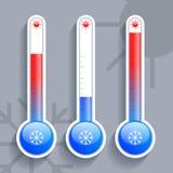 Symboler som visar vädret Arkivbild