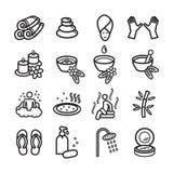 symboler ställde in brunnsorten Vektor EPS 10 Arkivbild