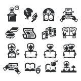 Symboler ställde in litteratur stock illustrationer