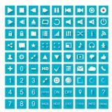 symboler 1 ställde in rengöringsduk Arkivfoton